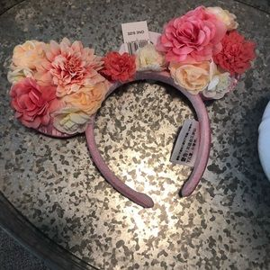 New NWT Floral Disney Ears Mickey Minnie Mouse